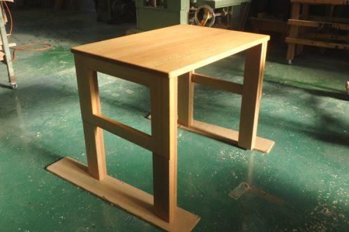 座卓からテーブルにリメイク