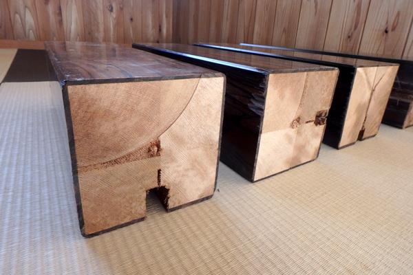 黒檀(コクタン) 床柱 リメイク